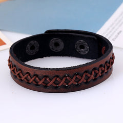 Casual Design Vintage Leather Bracelet