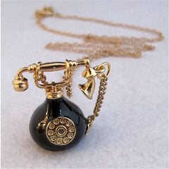 Phone Pendant Long Chain Necklace