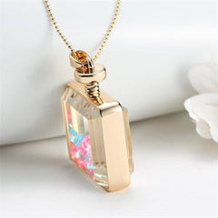 Colourful Glass Bottle Necklace