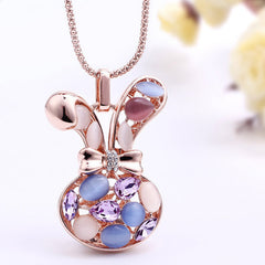 Cute Animal Shape Gold Plated Necklace for Women