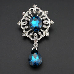 Water Drop Crystal Pendant Brooch