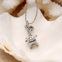 Eiffel Tower Love Necklace