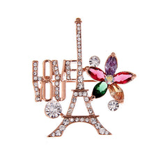 European Style Eiffel Tower Brooch