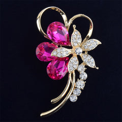 Cute Crystal Flower Brooch