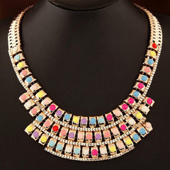 Luxurious and Colorful Short Style Women's Necklace