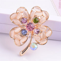 Colorful Flower Shape Brooch