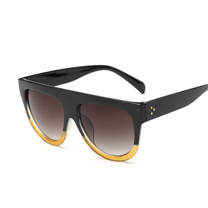 Flat Top Over-sized Sunglasses for Women