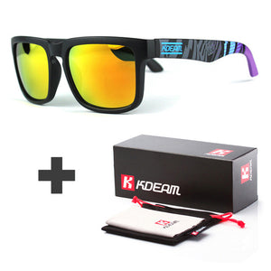 Kdeam Sport Sunglasses for Men with Reflective Coating