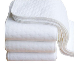 5 Piece White Cloth Baby Diaper - Ecological and Washable