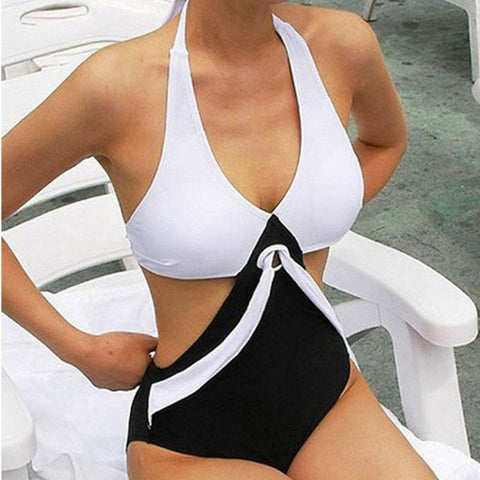 Hot One Piece Halter Push Up Swimsuit