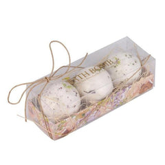 3 Piece Natural Sea Salt Bath Ball Set - Lavender Rose Bath Bombs