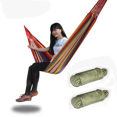 Portable Cotton Rope Camping Hammock - Canvas Bed
