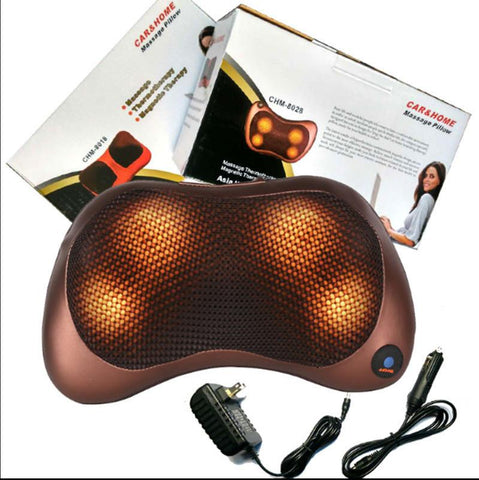 Electric Pillow Shoulder, Back and Neck Massager With Heating
