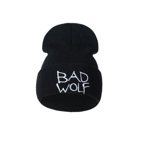Bad Wolf Solid Knitted Wool Beanie