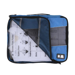 Travel Packing Folder - Travel Accessory to Avoid Wrinkled Clothing - Light Blue
