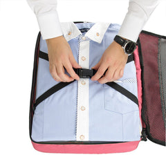 Travel Packing Folder - Travel Accessory to Avoid Wrinkled Clothing - Pink
