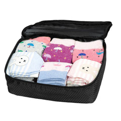 Travel Pouch - Sock Storage Box - Carry-on Organizer Bag - Black
