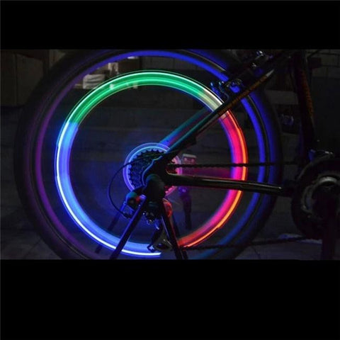 Flashing LED Tire Lamps for Bicycle Wheels