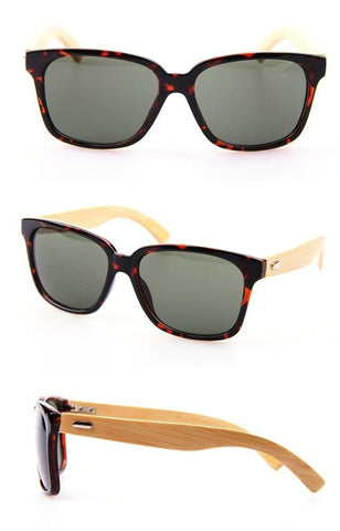 Image of Bamboo Leopard Sunglasses