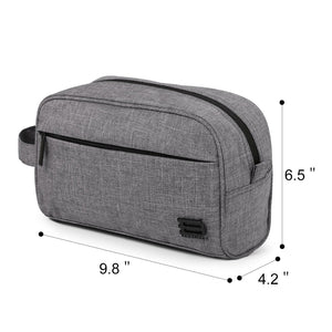 Toiletry Travel Bag - Kit for men and women - Grey