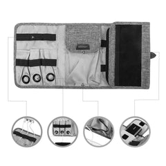 Compact Travel Cable Organizer for Portable Electronics and Accessories