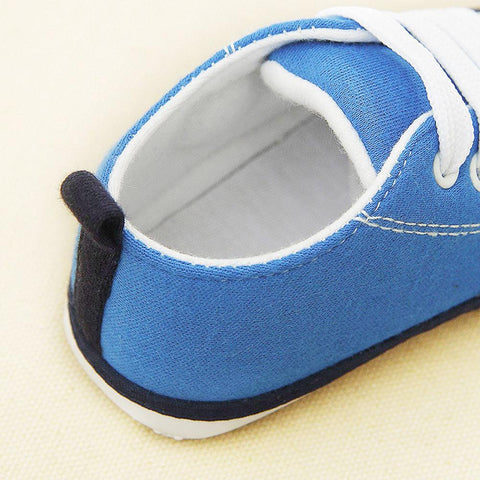 Image of Baby Boy Soft Sole Canvas Sneakers