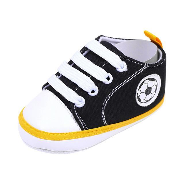 Baby Boy Soft Sole Canvas Sneakers