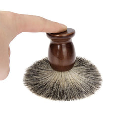 Wet Shaving Brush and Classic Wood Bowl Set - 2 Piece Men's Shave Tool