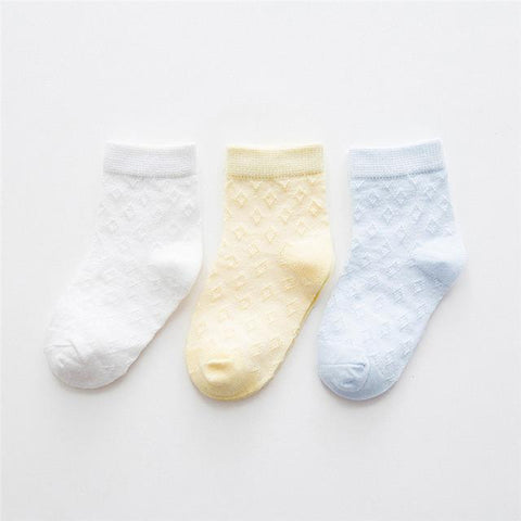 3 Pairs Newborn Baby Cotton Socks