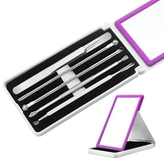 5 Piece Stainless Steel Blackhead Remover Tool Kit - Double Ended