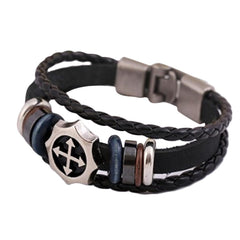 Unisex Retro Punk Leather Bracelet
