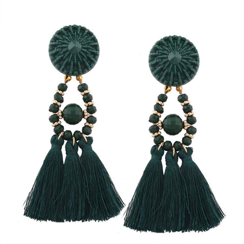 Image of Bohemian Long Tassel Earrings