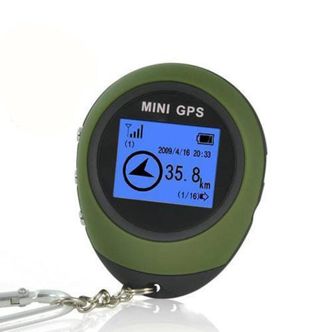 Image of Mini GPS Receiver Tracker and Location Finder Key Chain - USB Rechargeable