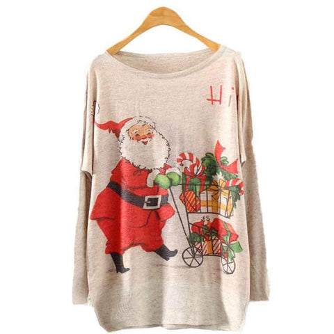 Womens Knitted T-Shirt Christmas Sweaters