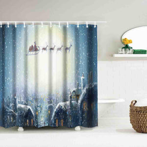 Special Christmas Shower Curtains With Hooks