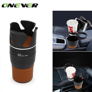 Multi Function Car Storage Box -  Drink Holder and Organizer With 360 Degree Rotation for Coins, Keys or a Phone Stand