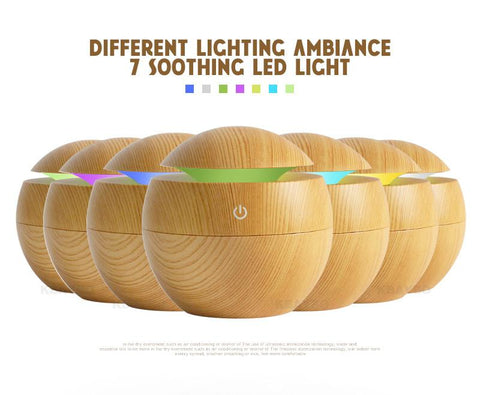 Image of 7 LED color option USB Aroma Oil Diffuser