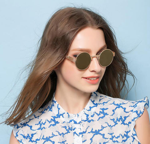 Luxury Round Metal Sunglasses - Allrate Shopping