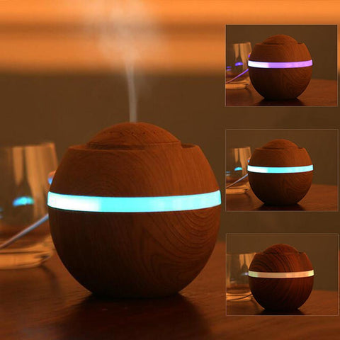 500ml USB Air Aroma Essential Oil Humidifier With Ultrasonic 7 Color LED