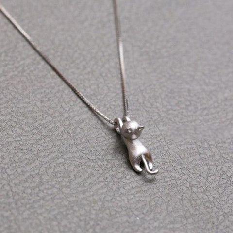 Image of Climbing Cat Charm Pendant