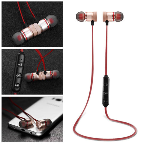 Wireless Bluetooth 4.0 Sport Earphones With Microphone for Mobile Phones