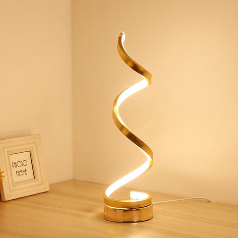 Acrylic LED Modern Spiral Design Table Lamp