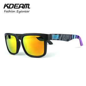 Kdeam Sport Sunglasses for Men with Reflective Coating - Allrate Shopping