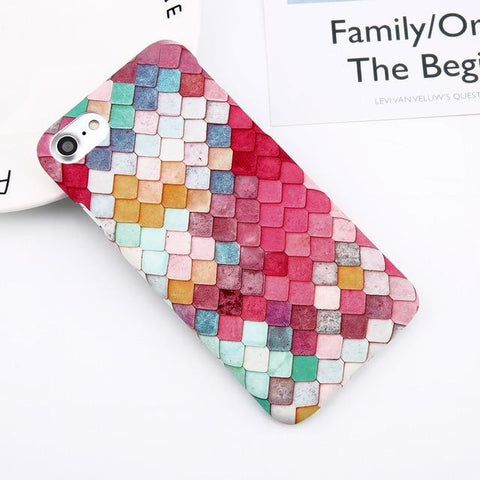 Image of Print Phone Case For iPhone - Hard Cell Cover