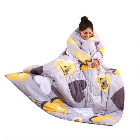 Image of Winter Warm Blanket With Sleeves