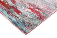 Silky Design Horizontal Ribbon Multi Rug