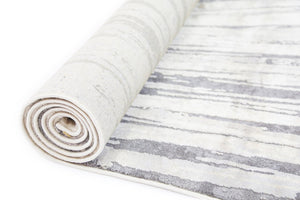 Abysm Textured Swirl Grey Beige Rug