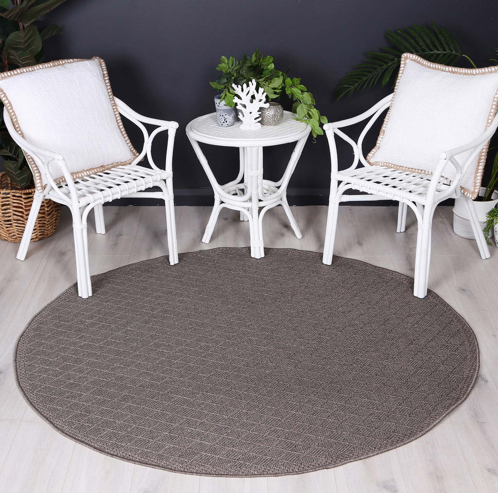 Sydneysider Diamond Charcoal Round Rug
