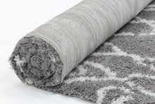 super soft shag Grey Silver Rug