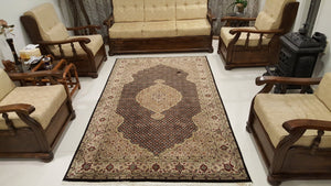 Persian Fish Design Rug Handmade